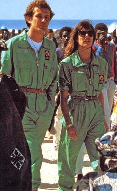 Princess Caroline & Stefano Casiraghi.Paris–Dakar Rally,1985.