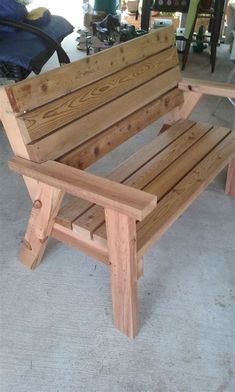 Ideas For Wood Diy Outdoor Garden Benches Garden Bench Plans, Outdoor Garden Bench, Wooden Garden Benches, Garden Chairs, Rustic Outdoor, Outdoor Seating, Outdoor Sofa, Wood Bench Plans, Outdoor Furniture Plans