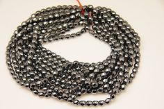 1strand  natural hematite twisted post sized 7 by 8mm by 3yes