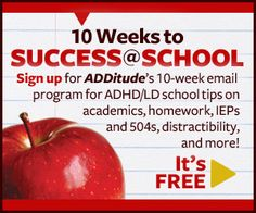 ADHD ADD and School  Helping Children and Teens with ADHD Succeed     ADDitude