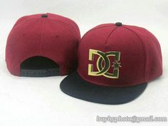 DC Shoes Snapback Caps Anjustable Hats Golden Metal Logo Wine 107|only US$20.00 - follow me to pick up couopons.