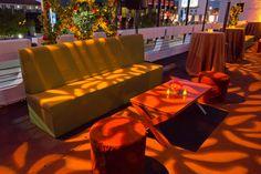 Outdoor furniture at Turbo event | Designer8* Event Furniture Rental designer8furniturerental.com #movie