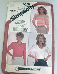 Hey, I found this really awesome Etsy listing at https://www.etsy.com/listing/180760122/1980s-pullover-top-knit-sewing-pattern