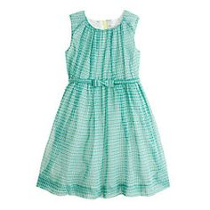 $88.00 from J. Crew. Girl's organdy bow dress. This is a magnificent dress for a little girl. Love it.  Biddy Craft