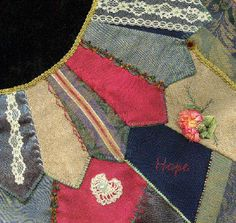 I ❤ crazy quilting & embroidery . . . Victorian CQ Hope ~By Vicki Tobin