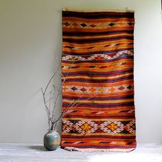 Vintage Turkish Kilim Rug from Sivas City / 5' by LittleDogVintage, $295.00
