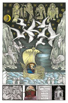 John Vernon Lord's Whimsical Illustrations for James Joyce's Finnegans Wake | Brain Pickings
