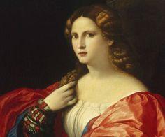 """Palma Vecchio (Jacopo Negretti), Portrait of a young woman known as """"La Bella"""", ca. 1518-20. Oil on canvas. 95 x 80 cm © Museo Thyssen-Bornemisza, Madrid"""