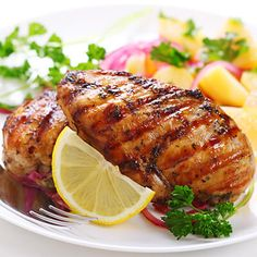Grilled Chicken Breasts with Mustard