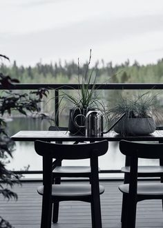 New home with a warm interior - via Coco Lapine Design blog