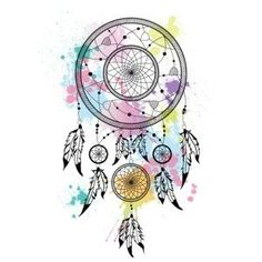 atrapasueños - Buscar con Google Dream Catcher Drawing, Dream Catcher Tattoo, Los Dreamcatchers, Zantangle Art, Aquarell Tattoo, Sketches Of Love, Borders For Paper, Feather Art, Lost Art