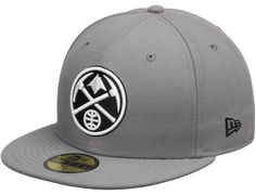 Denver Nuggets Gray 59Fifty Fitted Baseball Cap by NEW ERA x NBA New Era  Fitted 37d78427d2e