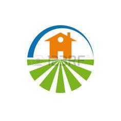 vegetable garden: Vector logo farm and housing