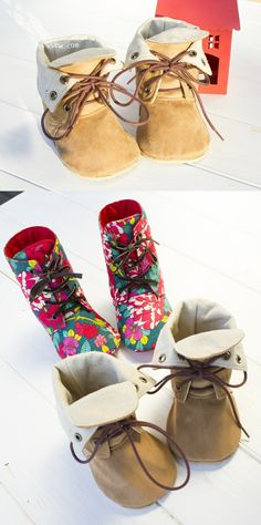Adler Baby Combat Boots PDF Pattern - ithinksew.com #ithinksew