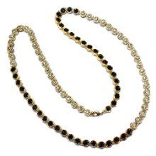 We are delighted to offer the brilliant Mens 7 mm Wide 30 Inches Long Black White CZ Cubic Zirconia 18k Gold Plated Flower Cluster Iced Out Hip Hop Chain Necklace.    With so many on offer recently, it is great to have a name you can trust. The Mens 7 mm Wide 30 Inches Long Black White CZ Cubic Zirconia 18k Gold Plated Flower Cluster Iced Out Hip Hop Chain Necklace is certainly that and will be a perfect purchase.