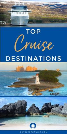 Top Cruise Destinations - The cruise region is an important factor to consider when booking a cruise. Our Top Cruise Destinations will help give you some inspiration. #cruise #cruisetravel #cruisetips #traveldestinations #eatsleepcruise Top Cruise, Best Cruise, Cruise Travel, Cruise Vacation, Vacations, Southern Caribbean, Western Caribbean, Cruise Excursions, Cruise Destinations