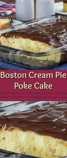 We've come up with a modern day way to serve up a classic dessert, and we're sure you're going to love it! Our Boston Cream Pie Poke Cake features everything you love about Boston Cream Pie, including yummy yellow cake, creamy filling, and a layer of homemade chocolate glaze. This easy poke cake will quickly become one of your favorites!