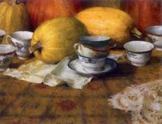 ~ Nancy Guzik: Golden Tea Cups