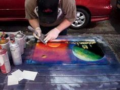 NYC STREET SPRAY PAINTING. AMAZING!