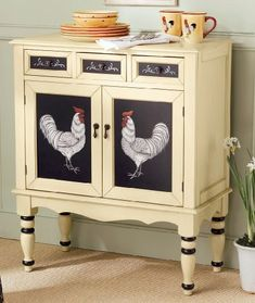 Hand-Painted-Rooster-Cabinet-1_41751_lg | by ece_aymer:
