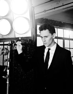 Tom dressed as sharp as his cheekbones!