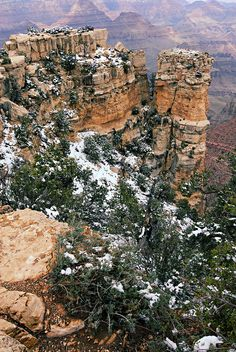Snowy Pillar, Grand Canyon; I have seen this place in person, and it is beyond description, and breathtaking!