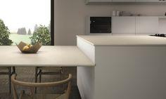 Ceralsio Soft White porcelain worktops Natural finish