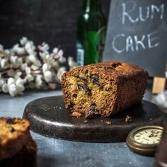 The perfect Rum and Raisin Cake with the subtle flavors of orange and honey.