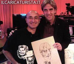 ilCaricaturista.it con il giornalista di Soprt Mediaset Mino Taveri