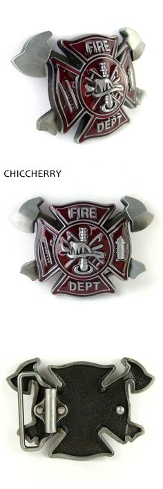 Cool Brand Male Accessories Fire Dept Hatchet Big Belt Metal Buckle for Men Belt Firefighter Gifts Fivela Cowboy Boucle Ceinture
