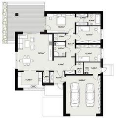 Floor plan of the Asan project - House Plans Mansion, Dream House Plans, House Floor Plans, Simple House Plans, Modern House Plans, Bungalow House Design, Small House Design, Home Building Design, Home Design Plans