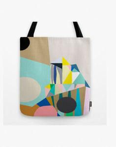 Kitty McCall - Muundo Tote Bag - Kitty McCall Textures Patterns, Print Patterns, Big Bags, Surface Pattern Design, Screen Printing, Sewing Crafts, Reusable Tote Bags, Kitty, Stitch