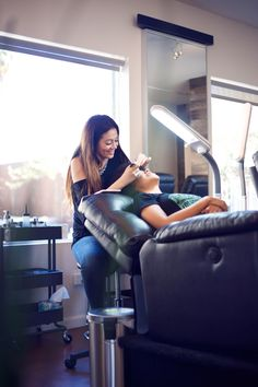 """The only way to do great work is to LOVE what you do"" -Steve Jobs <3 (Lash Stylist Lori Myers At Let's Lash eyelash extension studio in Scottsdale, AZ)"