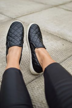 Fall Fashion: Slip On Sneakers. I love these quilted leather slip ons from #Target