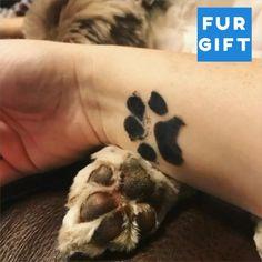 Cat Paw Tattoos, Cat Tattoo, Animal Tattoos, Body Art Tattoos, Cat Paw Print Tattoo, Cat And Dog Tattoo, Leopard Tattoos, Tattoo Perro, Tatoo Dog