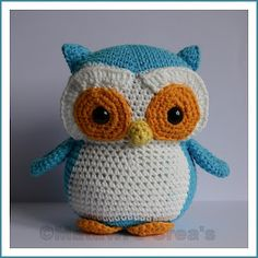 Sweet owl made by Tamara (patern from http://www.etsy.com/listing/82796609/crochet-pattern-owl-plush-pdf)