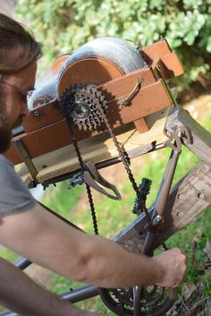 http://www.sufficientmorale.com/bicycle-drum-carder-a-steampunkers-cardercycle/  Awesome DIY Bicycle Carder Tutorial!