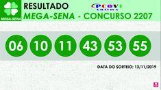 Mega Sena 2207 - Resultado do Concurso (13/11/2019) Resultado Mega Sena, Lei, Make Money Games, Winning The Lottery, Book Cabinet