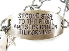 Bracelet Peter Pan Quote