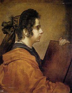 'A Sibyl', öl auf leinwand von Diego Velazquez (1599-1660, Spain)