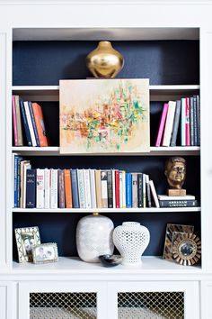 Colorful / fun book shelves