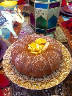 This Moroccan Orange Cake topped with Citrus Fruit Salad is a perfect dessert…