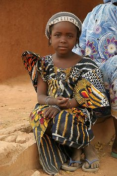 Africa | Hausa girl in a village in northern Nigeria |