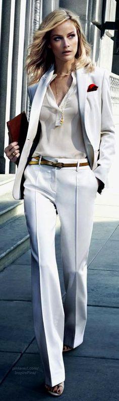 City Girl Carolyn Murphy in White Suit