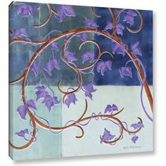 ArtWall Herb Dickinson Blue Gate Gallery-wrapped Canvas, Size: 36 x 36, Blue