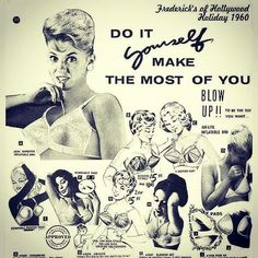 Blow up bras from the 60's.  Frederick's Of Hollywood sold these.