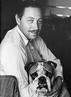 """Tennessee Williams- American playwright known for """"Cat On A Hot Tin Roof"""", """"Suddenly Last Summer"""", """"The Glass Menagerie"""" and """"A Streetcar Named Desire"""". He died on Feb 25, 1983 from choking on food at the age of 71"""
