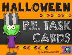 Set up easy Halloween-themed physical education stations in your P.E. classroom with these task cards!Set of 12 color, full page task cards/station signs with two pages of directions and materials list. Visual cues help struggling readers remember what to perform at each station.