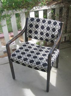 Doctor's Office Chair makeover.  I have two chairs just like this that need a makeover! Thanks for posting!