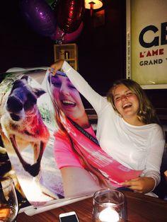 Hello, poster size SELFIEzzz with Kangaroos, koalas and hanging 10!!!!! We LOVE you sweet girl xoxo